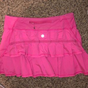 pink lululemon skirt!